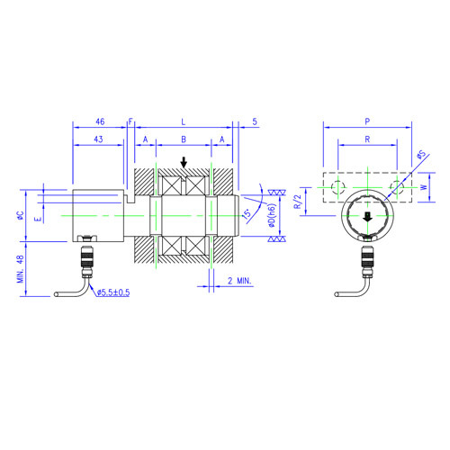 Load Cell Load Pin Axle