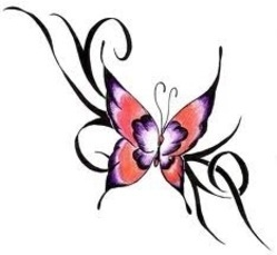 74941e2ce Butterfly Tattoo Design For Ankle And Waist - Angel Tattoo Design ...