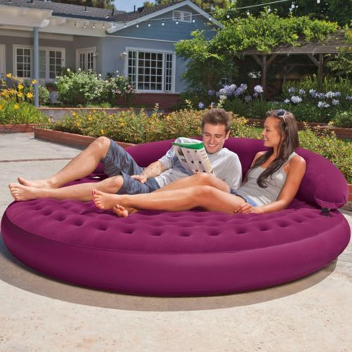 Lounge Water Proof Intex Air Bed, Size: 191 x 191 x 53 cm