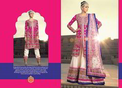 Ladies Chiffon Embroidered Designer Suits