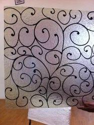 Multicolor Tirupati Designer Colors Glass Sheets, Size: 180*985 Inch