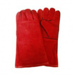 Leather Red Winter Glove