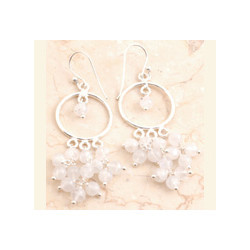 Rose Quartz Earrings Set