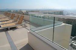 Outdoor Aluminum Frameless Railing