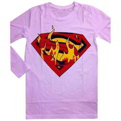 Pink Printed T Shirt