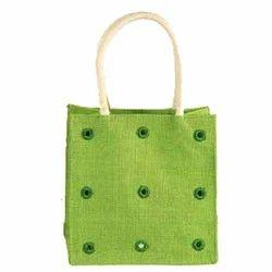 Printed Jute Beaded Bags