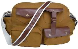 Flapper Khaki Leather Portfolio Bags