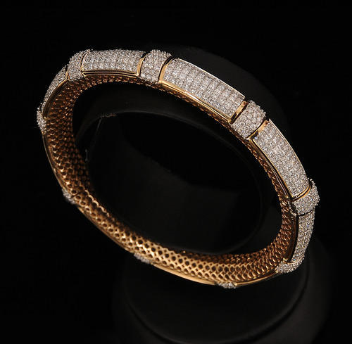 556ac3de8692f9 Indian Traditional Diamond Bangles Design at Rs 175000 /piece(s ...