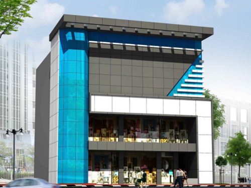 Front Elevation Designs In 3d : Digital images service provider of aluminium composite