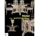 Silver Contemporary Dining Set