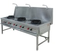 Three Burner Chinese Gas Range