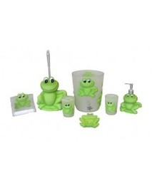 Green Frog Bath Set