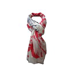 Viscose Screen Print Leaf Scarf