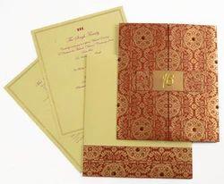 Fabric Card, Paper Card Sikh Wedding Card Printing