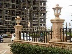 Sandstone Lamp Post