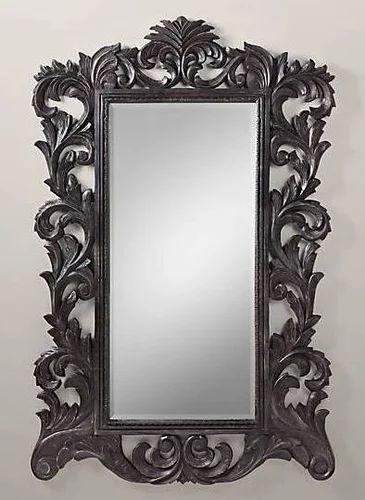 Carved Wood Mirror