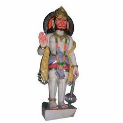 Handcrafted Marble Hanuman Statue