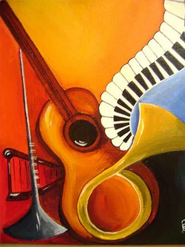 Musical Instruments Paintings, Paintings | Hyderguda ...