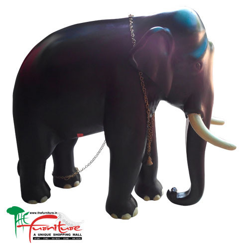 Large Wooden Indian Elephant Statue The Furniture Ernakulam Id