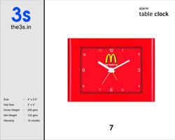 Customized Table Clocks
