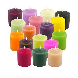 Colored Votive Candles | OM Sri Satya Sai Candles ...