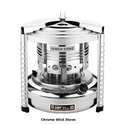 Chrome Wick Stove