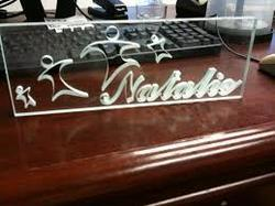 Designer Glass Name Plate At Rs 800 Square Feet