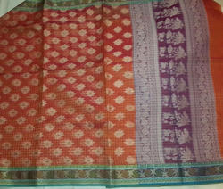 Supernet Cotton Saree