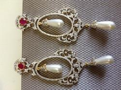 Pearl Long AD Earrings