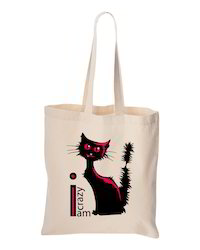 Cat Design Cotton Bag