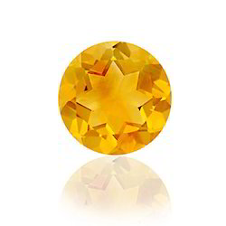Shinning 10 Mm Round Brilliant Cut Citrine Gemstone