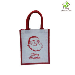 Santa Printed Christmas Bags