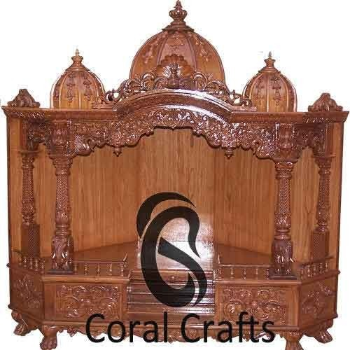 Beau Wooden Wall Corner Temple