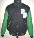 Black Kelly Green Varsity Jacket
