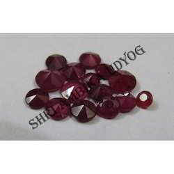 Ruby Diamond Cut Round Stone