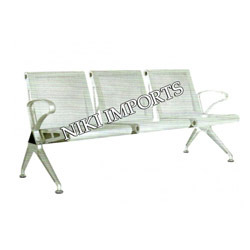 Stainless Steel Airport Sofa 3 Seater