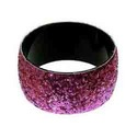 Round Party Aluminum Glitter Bangle