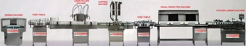 Siddhivinayak Engineering Automatic Liquid Filling Line, SVVLF - 100, 200