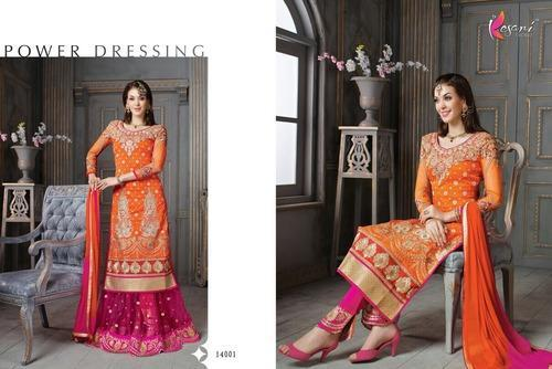 Pure Silk Embroidered Salwar Kameez, प्योर सिल्क ...