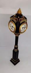 Antique Metal Pillar Clocks
