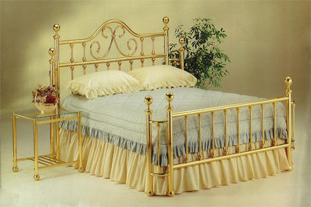 brass beds wesley with wraps