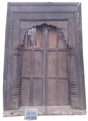 Old Carved Front Door