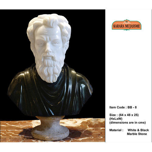 Black & White Marble Stone Busts