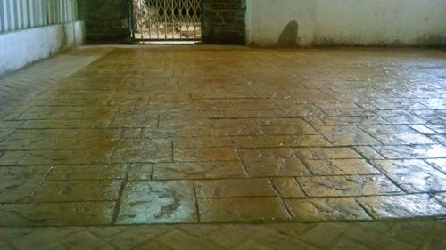 Stamped Concrete Flooring Self Leveling Cementitious