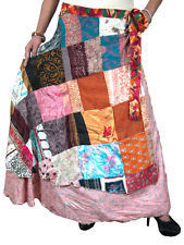 Recycled Patchwork Saree Silk Two Layer Beach Wrap Around