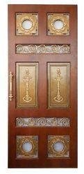 contemporary Copper Pooja Door