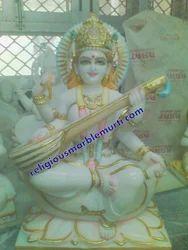 Marble Idol Saraswati Statue