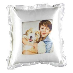 White Plain Square Cushion