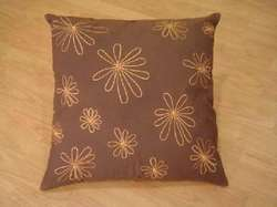 Gold Flower Printed Cushion Cover