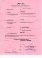 Capexil Certificate